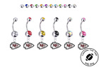 Kansas City Chiefs Silver Belly Button Navel Ring - Customize Gem Color - NEW on eBay