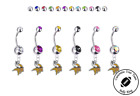 Minnesota Vikings Silver Belly Button Navel Ring - Customize Gem Color - NEW on eBay