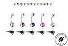 New England Patriots Silver Belly Button Navel Ring - Customize Gem Color - NEW $10.99 USD on eBay