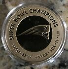 HIGHLAND MINT NEW ENGLND PATRIOTS SB 53  6 - TIME CHAMPIONS GOLD COIN