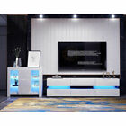 Modern TV High Gloss Front Cabinet LED for Living Room Entertainment Decoration