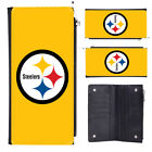 Pittsburgh Steelers Terrible Towel Leather Women Clutch Wallet Credit Card ID