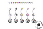 Pittsburgh Steelers Silver Belly Button Navel Ring - Customize Gem Color - NEW on eBay
