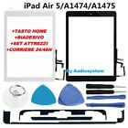 vetro touch screen apple ipad air 5 tasto flat home colla tools a1474 a1475