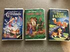 Disney VSH Tapes Black Diamond Cinderella, Robin Hood, And Fox And The Hound