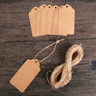 Rope Luggage Wedding Favour Kraft Paper Price Label Hanging Ornaments Gift Tag