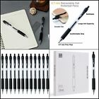 Black Gel Pens Ink Pens 12 Pack Point Smooth Writing Pens with Comfort Grip US