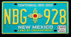 "USA Nummernschild aus New Mexcio ""Land of Enchantment"" Centennial ""NBG"". S-4678."