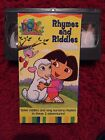 Dora the Explorer Rhymes and Riddles VHS Good Condition Animation Boots Family