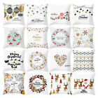 Christmas Polyester Pillow Case Square Bed Room Pillow Case Home Cushion Cover image
