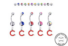 Chicago Cubs C Logo Silver Belly Button Navel Ring - Customize Gem Color - NEW on Ebay
