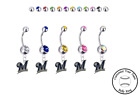 Milwaukee Brewers Silver Belly Button Navel Ring - Customize Gem Color - NEW on Ebay