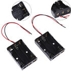 2 Pcs black plastic battery holder case wired for 3 x AAA 4.5v with lead wire KK