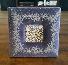 """Antropologie Plush Floral Picture Frame ~ 6.5"""" x 6.5"""" ~ For 2.5"""" x 2.5"""" Photos"""