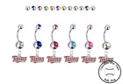 Minnesota Twins Silver Belly Button Navel Ring - Customize Gem Color - NEW on Ebay