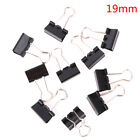10 pcs Black Metal Binder Clips Notes Letter Paper Clip Binding Securing clip PL