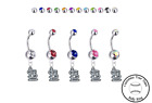 St Louis Cardinals Silver Belly Button Navel Ring - Customize Gem Color - NEW on Ebay