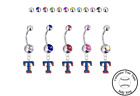 Texas Rangers Style 2 Silver Belly Button Navel Ring - Customize Gem Color - NEW on Ebay