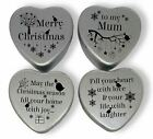Christmas Gift set of 4 mini heart shaped tins in a gift box for loved ones.