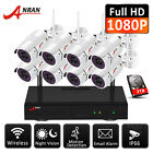 ANRAN 1080p 8CH Wireless Security Camera System 2MP WIFI NVR with 1TB Hard Drive