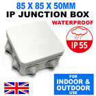 GREY OUTDOOR IP JUNCTION BOX WALL MOUNT CASE IP55 WATERPROOF PLASTIC ENCLOSURE