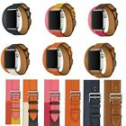 Leather Watch Band Herme Belt Double/Single Tour For Apple Watch Series 1/2/3/4 image