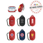 MARVEL Samsung Galaxy Buds Solid Case Cover Skin + Carabiner 6 types Official MD
