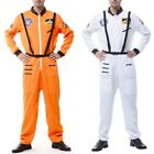 Super Astronaut Costume Adult NASA Space Flight Suit Halloween Fancy Dress, used for sale  Shipping to Canada