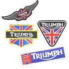 Triumph Motocycle Logo Embroideded Patch Ricamata Racing Classic Biker Jacket $3.03 USD on eBay
