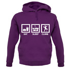 Eat Sleep Climb Unisex Hoodie - Climber - Rock Climb - Mountain - Hike - Walk