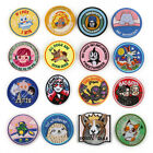 Cartoon Round Badges Embroidered Iron on Patch Animal Appliques Clothes Emblems $1.86 USD on eBay