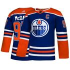 Connor McDavid Edmonton Oilers NHL Adidas Mens Blue Authentic On Ice Pro Jersey