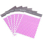 Purple Polka Dots Plastic Parcel Mailing Postal Bags Packing Envelopes Polythene
