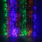 US 3M 300 LED Xmas Window Curtain Icicle String Lights Party Wedding Decor
