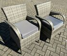 Pair Of Outdoor Rattan Weave Dining Chairs 2x Garden Furniture Chairs
