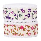 Floral Tulle Lace Trim Fabric Embroidered Lace Ribbon Sewing DIY Craft Handcraft