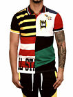 BLEECKER & MERCER Poly Color Block Polo with Chenille Patch