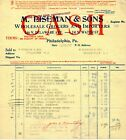 11/30/1917 M. Eiseman & Sons Grocers and Importers original paper invoice