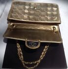 Vintage Chanel Ice Cube Gold Bag 100% Authentic