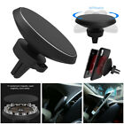 360° Qi Wireless Car Charger Magnetic Air Vent Mount Holder For Mobile Phone NEW