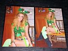 LOT (2) TILTED KILT sexy hooters babes 4x6 GLOSSY PHOTO SET ~ amateur candid #D4