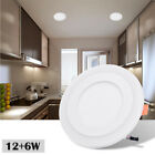 3 Mode Dual Color Ultra thin LED Recessed Ceiling Panel Down Light Lamp 85V-265V