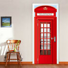 UK 3D Door Wall Sticker Decals Self Adhesive Waterproof Mural Scenery Home Decor