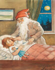 Nystrom Jenny Santa Claus With Child Print 11 x 14 #5358