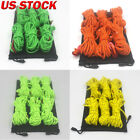 4M Reflective Canopy Tent Rope Guy Line Camping Cord Outdoor Tool With Buckle