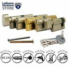 Euro Profile Double Cylinder Door lock-Anti Snap Pick Bump Drill-Brass