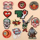 Skull Badge Embroidered Iron on Patch Rock Sports Emblems Hat Bag Pants Repair $1.56 USD on eBay