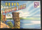 VTG Dells of the Wisconsin River Postcards Winnebago Indians Post Card Souvenir