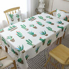 Flamingo Check Table Cloth Cover Dining Decoration Sets Runners Rectangle New