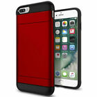 For Apple iPhone 6/s HJybrid Card Protect Holder Shockproof Rubber Case Cover